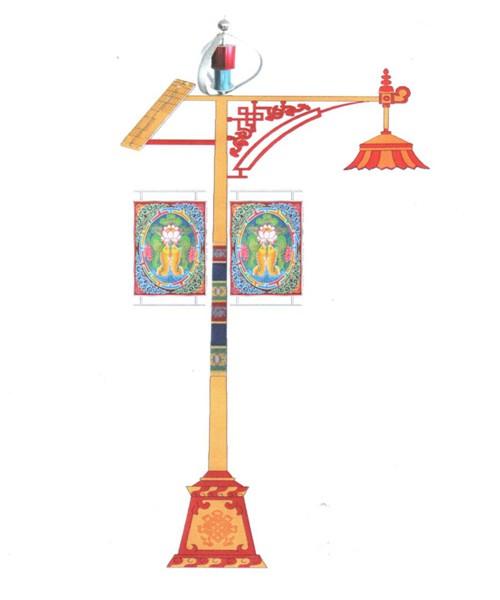 藏式路灯_青海路灯厂_青海太阳能路灯_青海监控杆制作图片