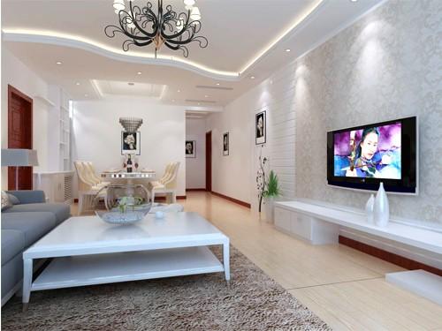 欧式风格客厅一角_西宁装饰公司_西宁艺术玻璃_西宁_.