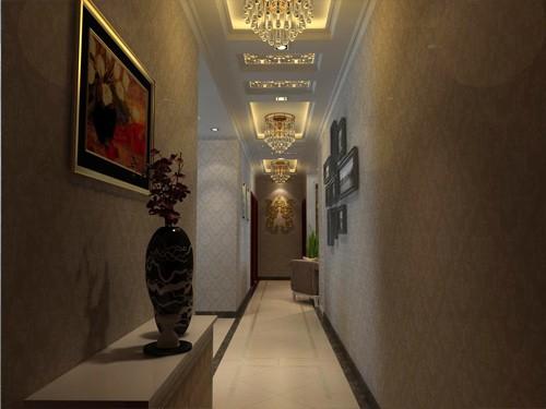 欧式风格客厅走廊_西宁艺术玻璃