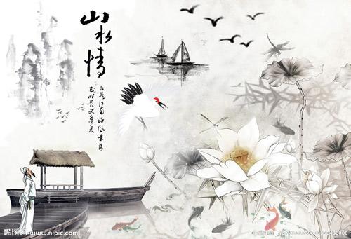 不但与中国人物画的历史发展联系在一起,而且也为中国山水画的发展