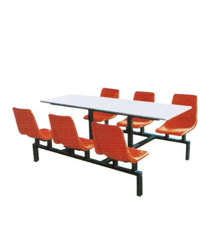 六人钢架餐桌-西宁振东办公家具 西宁文件柜 西宁